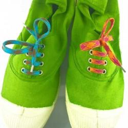 Lacets chaussures Pied de poule dépareillés 60cm