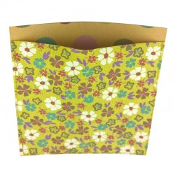 Poche rectangle thermocollante tissu fleurs Capucine