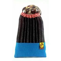 Petit sac bandoulière Écossais noir
