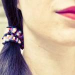 Chouchou cheveux Mosaïque noir