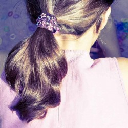 Chouchou cheveux Etoiles lurex