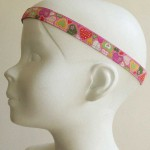 Bandeau tête enfant Cœurs lurex rose