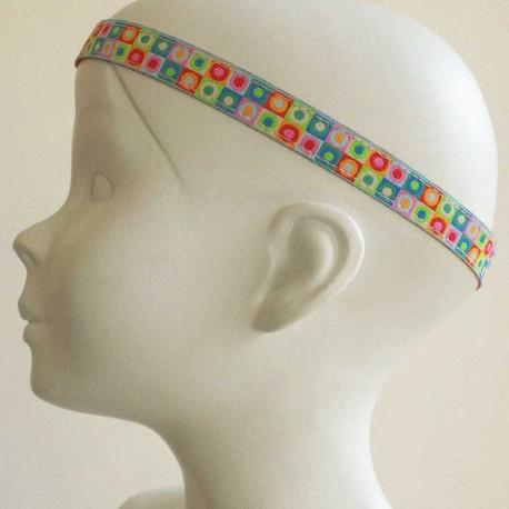 bandeau-tete-cheveux-enfant-pois-multicolore