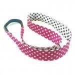 Bandeau cheveux Pois rose et blanc