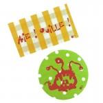 Thermocollants Aïe Ouille! orange / Monstre vert