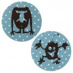Thermocollants monstres Gorgus/Willo pois bleu