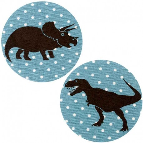 ecusson-thermocollant-dinosaure-tyrannosaure-pois-bleu