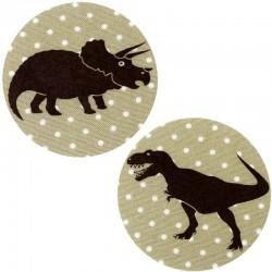 ecusson-thermocollant-dinosaure-tyrannosaure-pois-beige