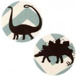 Thermocollants dinosaures Diplodocus/Stégosaure chevrons