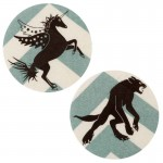 Ecussons thermocollants Licorne/Loup-garou chevrons