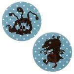 Thermocollants monstres Bloomy/Zorzouille pois bleu