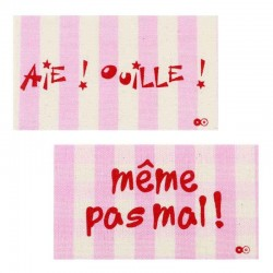 ecusson-thermocollant-meme-pas-mal-rayure-rose