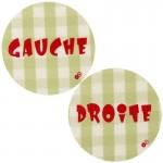 Thermocollants Gauche / Droite vichy vert