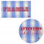 Thermocollants Fragile / Attention Danger bleu