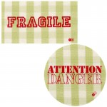 Thermocollants Fragile / Attention Danger vert