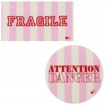 Thermocollants Fragile / Attention Danger rose
