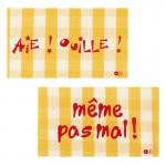 Thermocollants Aïe Ouille! / Même pas mal! orange