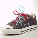 Lacets chaussures Bicolore 90cm