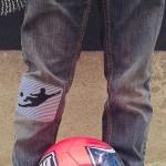 Thermocollant Football rayures