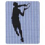 Thermocollant Tennis rayures bleu