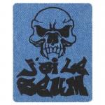 Ecusson Tête de mort SEUM blue jean
