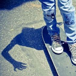 Ecusson Tête de mort MDR blue jean