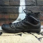 Lacets chaussures Pois noir 130cm