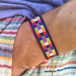 bracelet-ruban-mosaique-noir