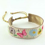 Bracelet ruban fleurs Microcosmos