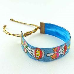 Bracelet ruban Masques fluo