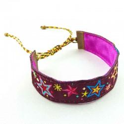 Bracelet ruban Etoiles lurex