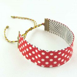 bracelet-ruban-pois-rouge