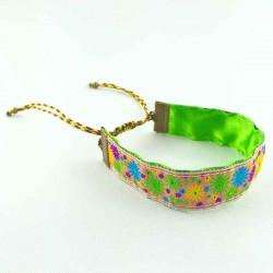 bracelet-ruban-fleur-violette