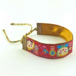 Bracelet ruban Poupée russe