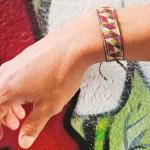 Bracelet ruban Mosaïque lurex