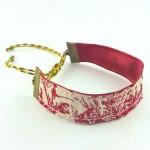 Bracelet ruban toile de Jouy