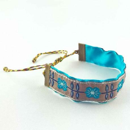 bracelet-ruban-fleur-romance-bleu