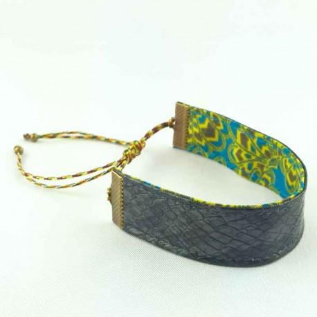 bracelet-ruban-cuir-gris