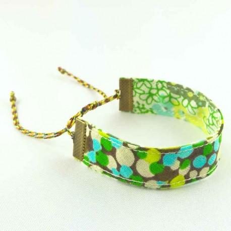 bracelet-ruban-pois-vert