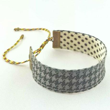 bracelet-ruban-pied-poule-gris