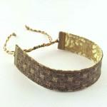 Bracelet ruban Rétro marron