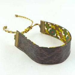 bracelet-ruban-cuir-marron