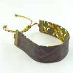 Bracelet ruban cuir marron