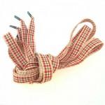 Lacets Vichy rouge 130cm