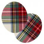 Thermocollants Écossais rouge et vert
