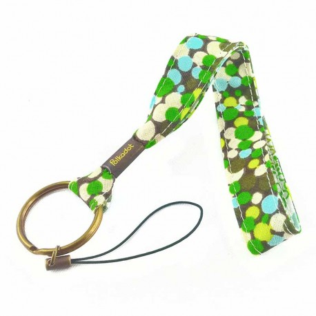 dragonne-porte-clefs-pois-vert