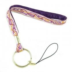 Dragonne porte-clefs Zigzag violet
