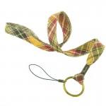 Tour de cou porte-clefs Écossais beige