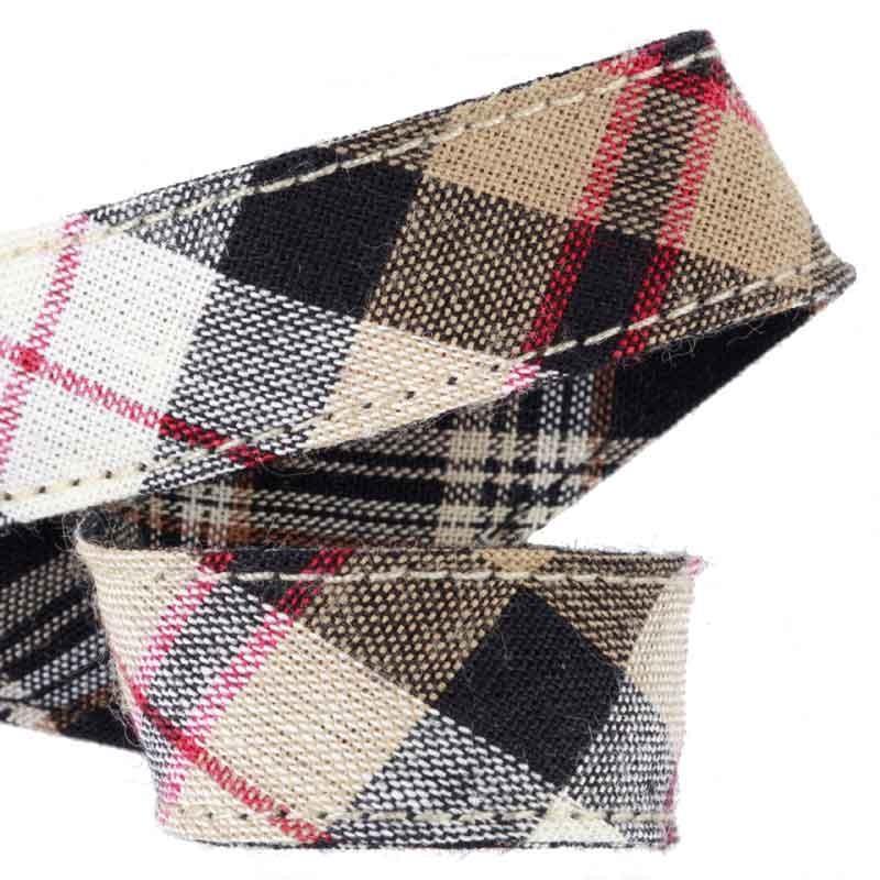 Attache serviette table adulte ruban cossais beige et noir - Attache serviette de table ...