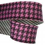 Attache-serviette Pied de poule rose